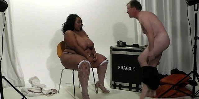He caught cheating with busty ebony in fishnets
