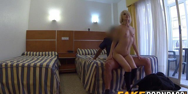 Skinny babe railed in hotel room by cop
