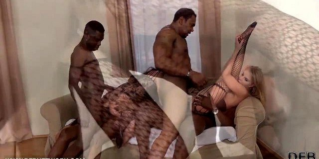 Sisters have interracial anal sex together with black men