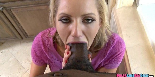 Blonde Mom gets a Thick Black Dick