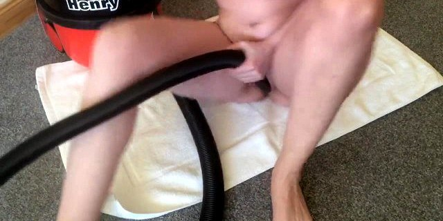 Shaking Orgasms From Vacuum Cleaner Sucking Her Pussy