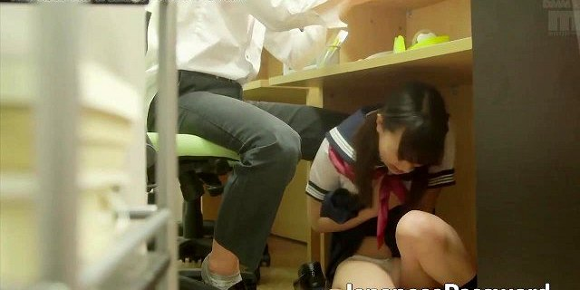 College library masturbation session with japanese teen