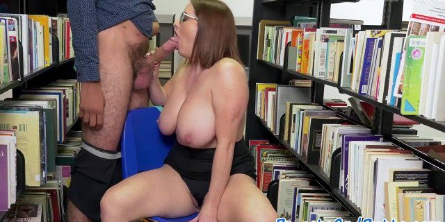Bigbutt beauty fucked in the library