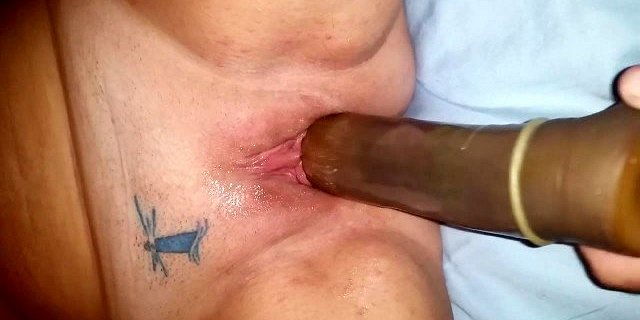 wife with huge black dildo