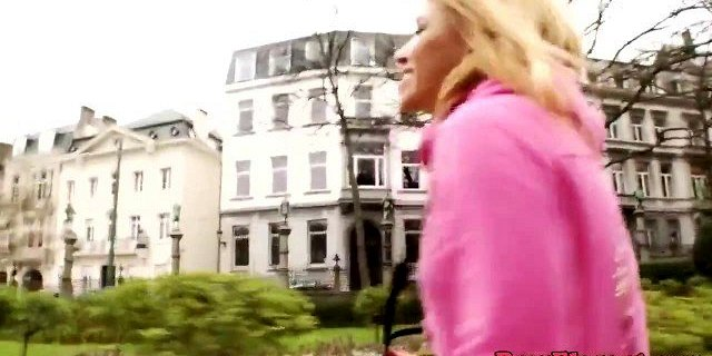 European amateur blonde doggystyled by bbc