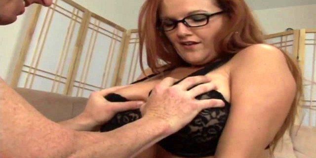 MILF with glasses gets her wet cunt licked by a ripped hunk