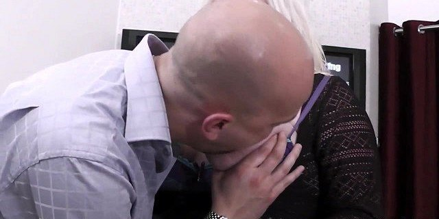 Fucking cute blonde with big tits at work