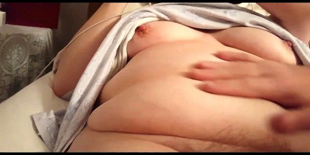 feeling my wifes hard nipples, hairy pussy & soft belly