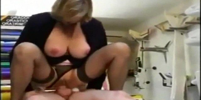 French Mature Boss And Her Employee Anal