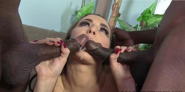 Two Black Cocks In One Pussy - Paige Turnah