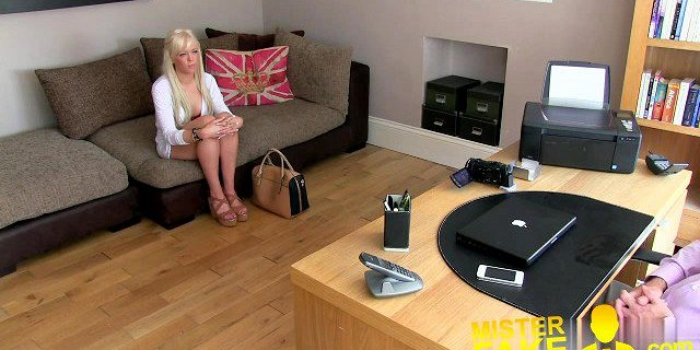 MisterFake Hot blonde young amateur tricked in casting