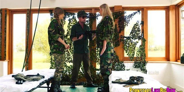 Threesome with Military Sluts