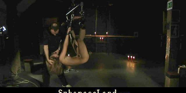 BDSM and Bondage submission for tied up teen and abused