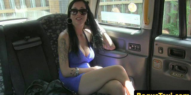 Real brit taxi babe spunked on face