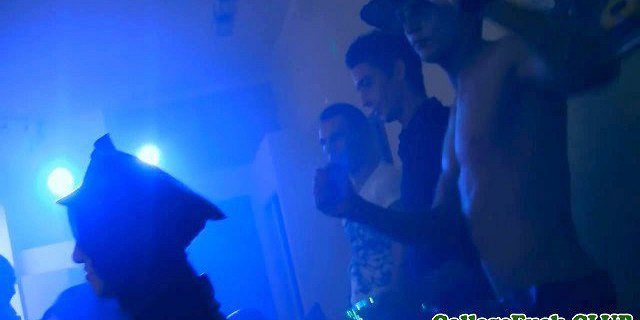 European coeds groupfuck at college party