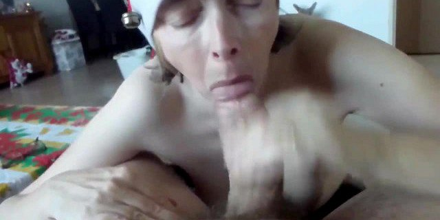 christmas blowjob with cum