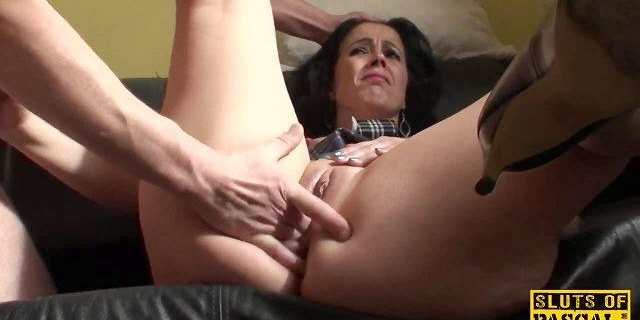 Euro sub dominated with rough anal punishment
