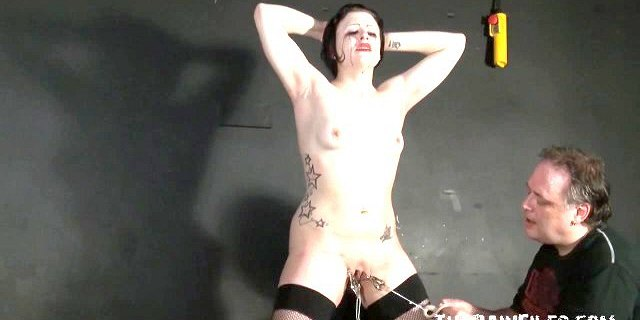 Enslaved milf Isabel pussy tortured in extreme private sm