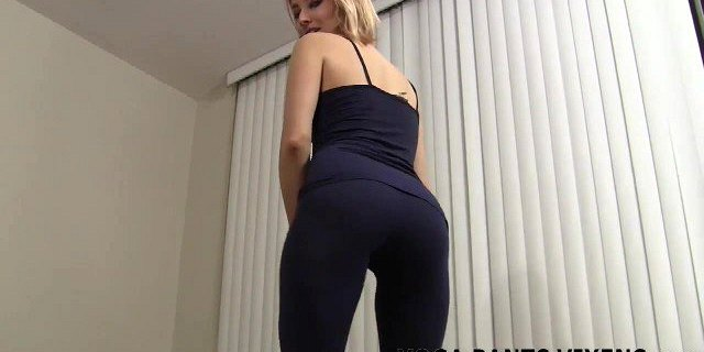 Rub your hard cock against my ass in yoga pants JOI