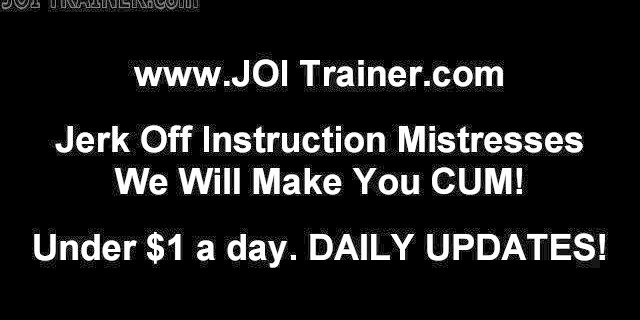 Follow my instructions while jerking your cock JOI