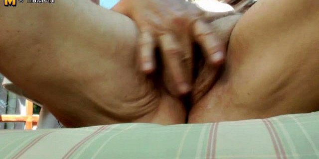 Granny shows her beaver still needs some action