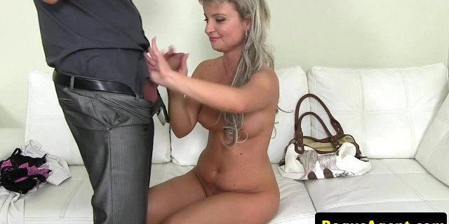 Real european at casting gets pussyfucked