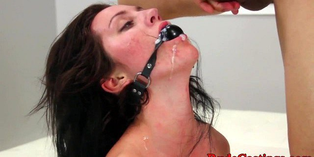 Real casting babe choked and hardfucked