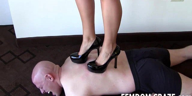I will trample you hard in pointy high heels