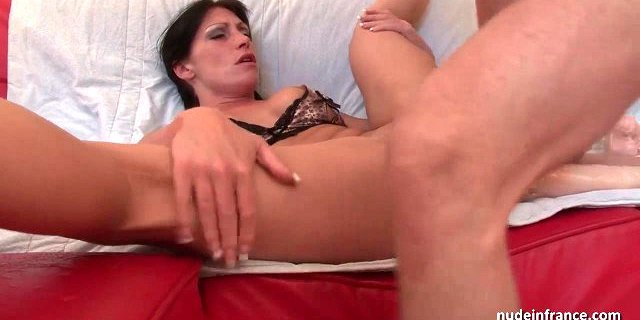 Busty french babe deep anal pounded and double fist fucked