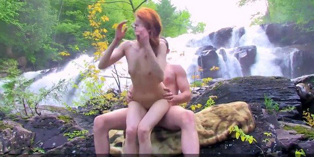 Petite Redhead Fucked in the Forest  - Let
