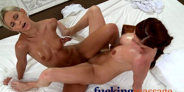 Massage Rooms Hot girls rub wet pussy together in lesbian