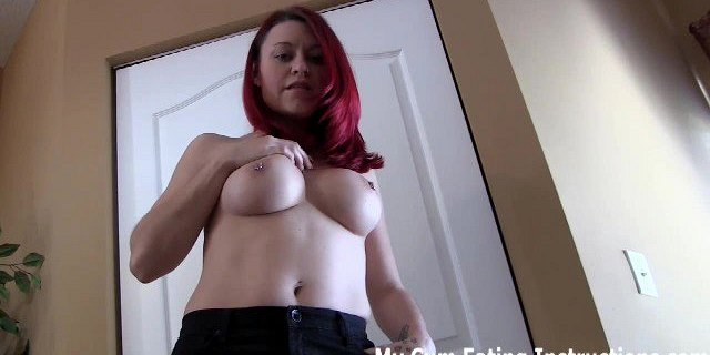 Jerk off twice and eat both loads of cum in one gulp CEI