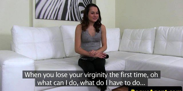 Pussyrubbing eurobabe creampied by casting agent