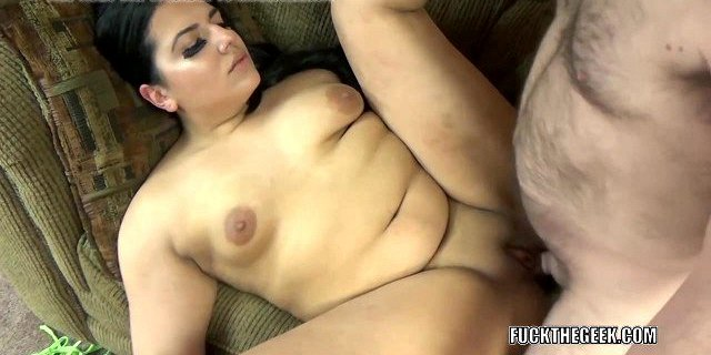 Chubby brunette Stella Carter gets her plump pussy pounded