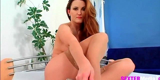 Blonde babe with large tits loves riding a big cock