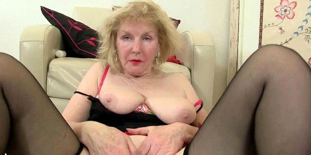 British grannies Lacey Starr and Pearl fuck a dildo
