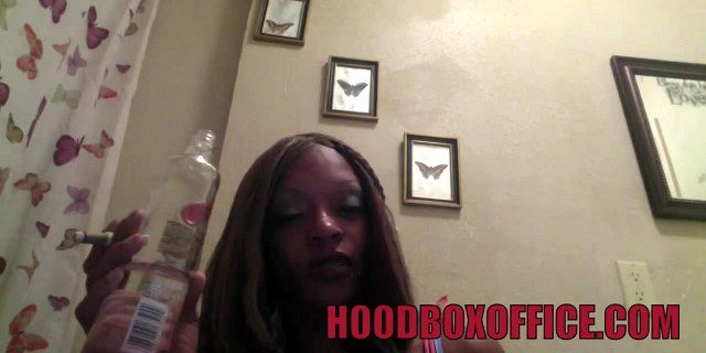 black college teen drinks before taking on married cock