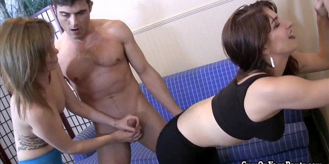 Two Yoga Instructors Get a New Client with a Handjob