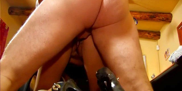 Hairy milf fucked in all holes