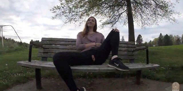 Public pussy ripped leggings in public! PREVIEW