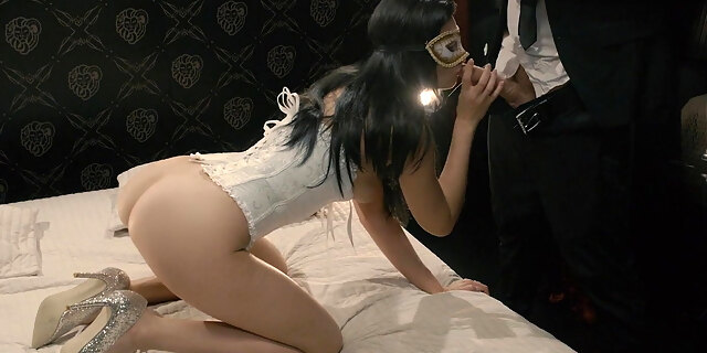 Sexual fantasy with a kinky masked girl