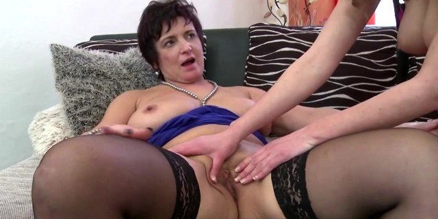 Posh busty stepmother and daughter having lesbian sex