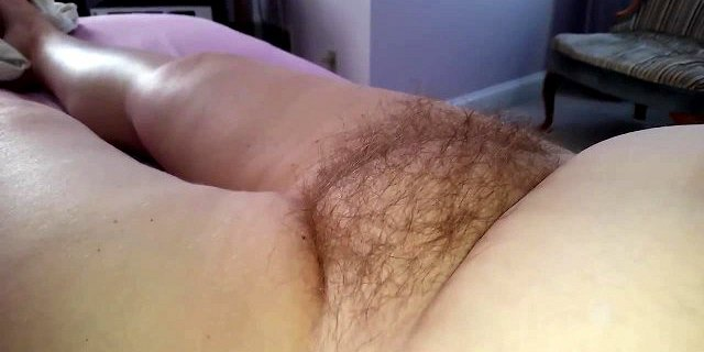 the soft chubby hairy pussy & belly of my bbw wife