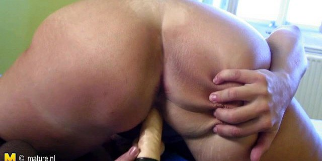 Cute housewife playing with her wet pussy