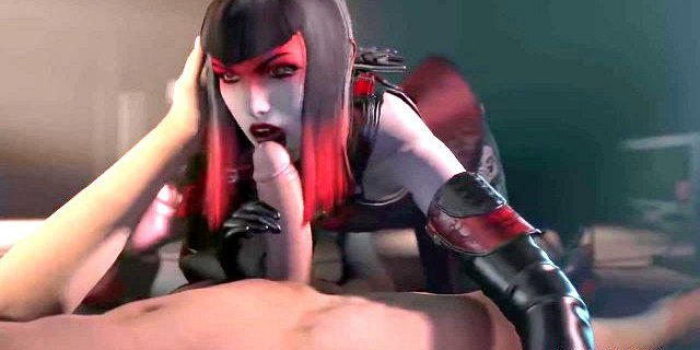 Brunette 3D babe Countess gets mouth and pussy drilled