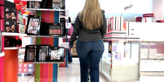 Thick Blond Pawg Milf Christmas Shopping (Busted) edited