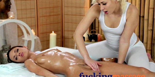 Massage Rooms Young lesbian girlfriends share sensual orgasm