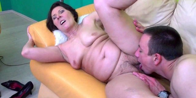 Wild granny suck and fuck young boy