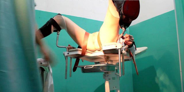 Strict doctor and orgasm on a gynecological chair