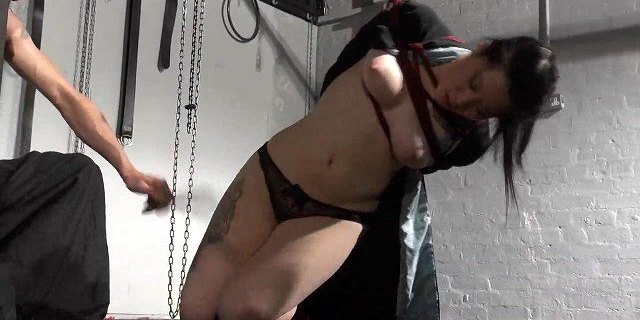 Asian bondage babe Devils whipping and suspension of young